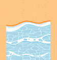 top view of sand and sea wave landscape vector image