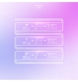Transparent glossy panel on blurred background vector image vector image