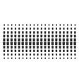 trash bin shape halftone grid vector image