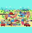 travel board game design vector image vector image