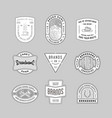 vintage logo insignia badge set 6 vector image