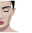 Fashion beauty half Face female Model vector image