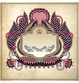 floral frame on grunge paper background page vector image