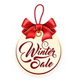 tag with inscription winter sale vector image