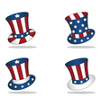 4 july united states hats vector image