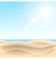 Sand beach background vector image