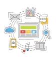 Social media network concept Thin line vector image