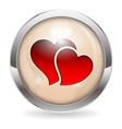 Valentine Button vector image