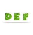alfavit from the leaves of the clover letters def vector image vector image