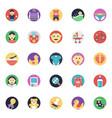 baand kids flat icons set vector image