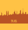 background of traveling design collection vector image