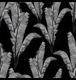 bananas leaves monochrome seamless pattern vector image vector image