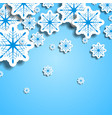 blue and white christmas snowflakes vector image vector image
