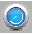 blue metal button with dial vector image