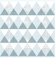 blue triangle seamless pattern with grunge effect vector image vector image
