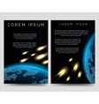 Brochure flyers with meteor shower vector image vector image