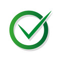 checkmark sign approved with shadow vector image vector image