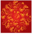 china flower pattern vector image vector image