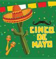 cinco de mayo annual celebration poster vector image vector image