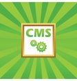 CMS settings picture icon vector image vector image