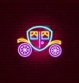 coach neon sign vector image vector image