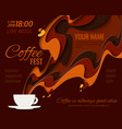 coffee menu background vector image vector image