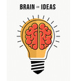 Concept of brain and ideas innovation in business vector image vector image