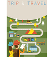 Couple Tourist Plan Traveling Route vector image vector image