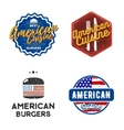 creative set american cuisine logo design vector image vector image