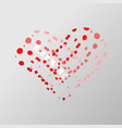 decorative valentines heart of paint stains with vector image