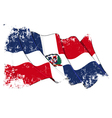 Dominican Republic Flag Grunge vector image vector image