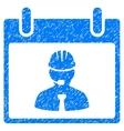 Engineer Calendar Page Grainy Texture Icon vector image vector image