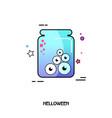 eye glass jar icon halloween sticker vector image vector image