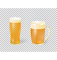 festival of beer a light beer in a mug and a vector image vector image