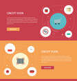 flat icons present payment support and other vector image vector image