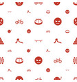 fun icons pattern seamless white background vector image vector image