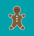 gingerbread man flat vector image