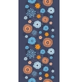 golden and blue night flowers vertical vector image vector image