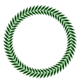 green laurel wreaths vector image vector image