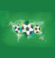 grunge abstract football background with world vector image vector image