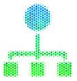 halftone blue-green hierarchy icon vector image vector image