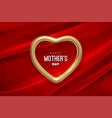 happy mothers day golden heart shape vector image vector image