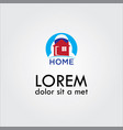 home sun logo vector image vector image