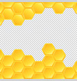 honeycombs on transparent background vector image vector image