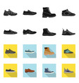 isolated object of shoe and footwear icon