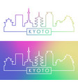 kyoto skyline colorful linear style editable vector image