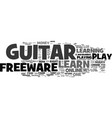 learn to play guitar freeware text background vector image vector image