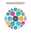management infographic circle concept smart ui vector image vector image