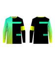 mtb jersey motocross vector image