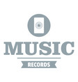 music record logo simple gray style vector image vector image